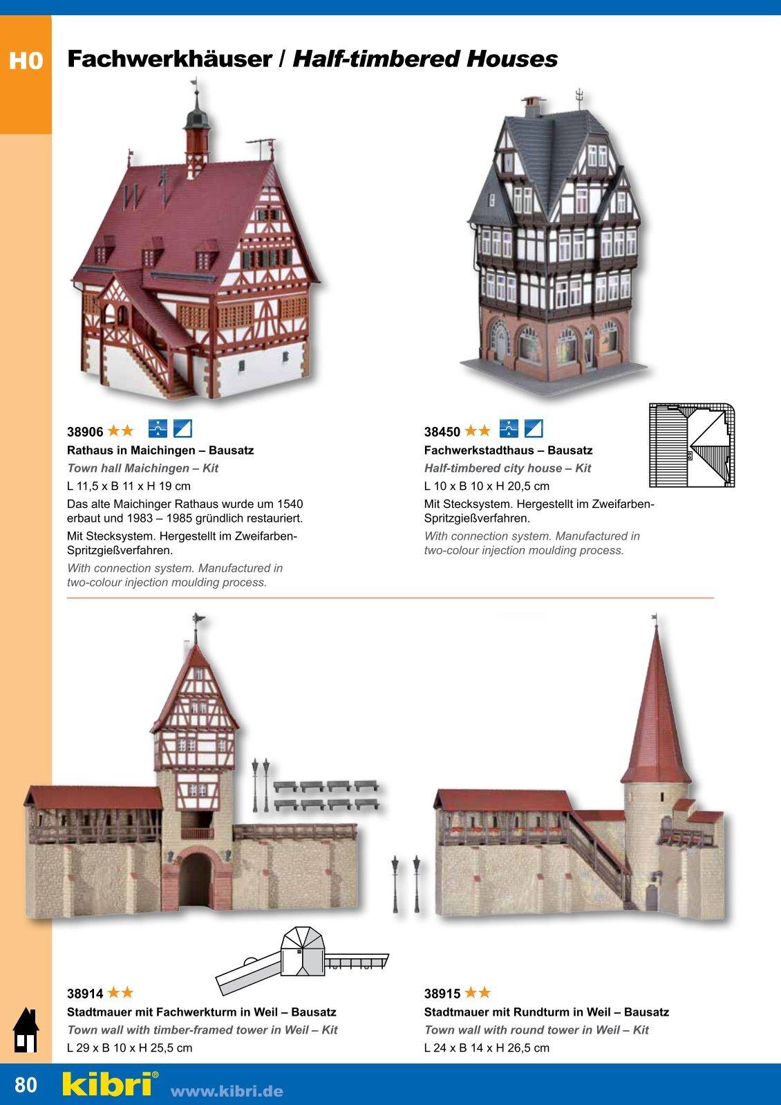 Kibri 38450 H0 Fachwerkstadthaus