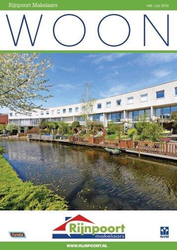 Rijnpoort Makelaars WOON magazine #49, uitgave juli 2018