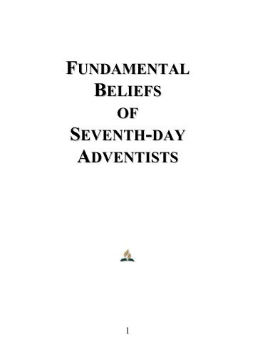 Fundamental Beliefs of Seventh-day Adventists