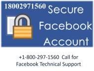 +1-800-297-1560 Facebook Customer Service Number for Technical Support