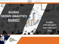 Crowd Analytics Market Predicted to Reach $1,531 Million Globally by 2022