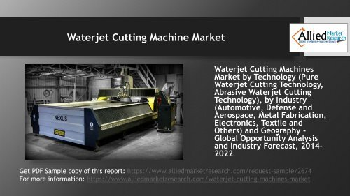 Why Waterjet Cutting Machine Market is set to grow in the