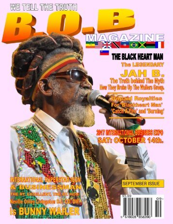 B.O.B. MAGAZINE  FEATURING THE LIVING LEGEND  AND ORIGIAL WAILERS BUNNY WAILER