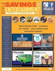 Style Savings & Entertainment Guide: Folsom and El Dorado Hills; July 2018