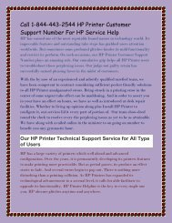 Call 1-844-443-2544 HP Printer Customer Support Number For HP Service Help.output