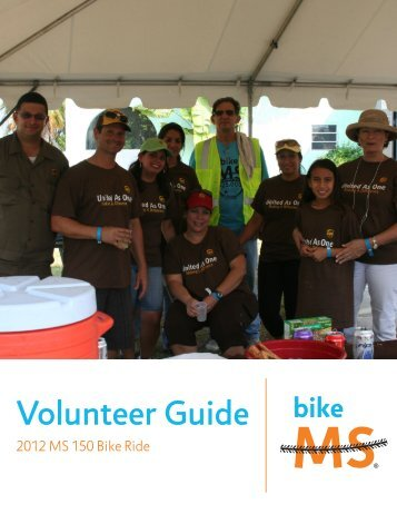 volunteer check-in procedures - MS Bike Ride