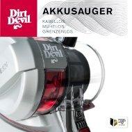 Dirt Devil Dirt Devil Cordless handheld vacuum cleaner - DD698-4 - Manual (Multilingue)