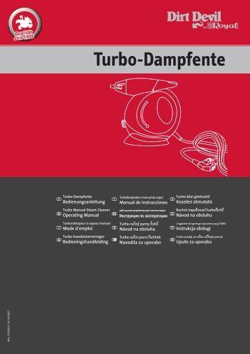 Dirt Devil Dirt Devil Handheld Steam Cleaner - M355 - Manual (Multilingue)