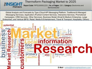 Global Market Study On Thermoform Packaging Market : Label & Packaging To Remain Dominant Application Segment Through 2025