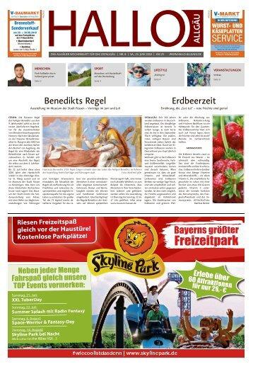Hallo-Allgäu Kaufbeuren, Ostallgäu vom Samstag, 23.Juni