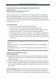 Leitfaden zur Erstellung eines pädagogischen Konzeptes im Team