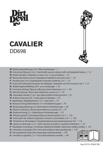 Dirt Devil Dirt Devil Cordless handheld vacuum cleaner - DD698-3 - Manual (Multilingue)