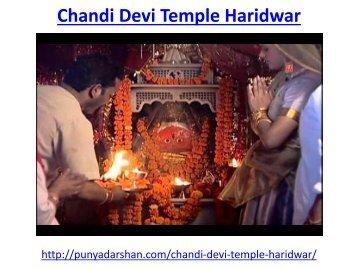 Chandi Devi Temple Haridwar