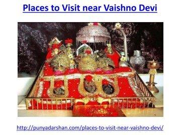 Places to Visit near Vaishno Devi