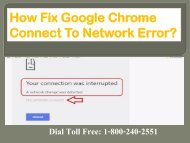 How to Fix Google Chrome Connect To Network Error 1-800-240-2551