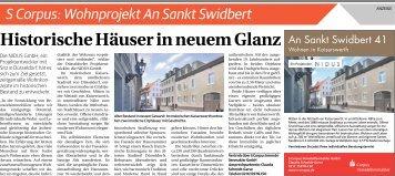 S Corpus: Wohnprojekt An Sankt Swidbert  -23.06.2018-