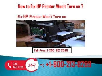 1-800-213-8289 Fix HP Printer Won't Turn on