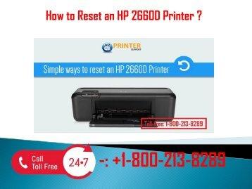 1-800-213-8289 Reset an HP 2660D Printer