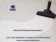 Why Hire Professional Sofa Cleaners