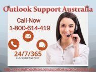 Dial Now Outlook Support Australia 1-800-614-419