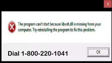 How to Fix Windows Missing libcef.dll file 1-800-220-1041 Dial