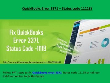 Fix QuickBooks error 3371 Call 1-800-593-0163 Status code 11118