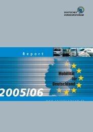 Mobilität für Deutschland - Deutsches Verkehrsforum