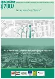 2nd International Conference on Managing Urban Land ... - Refina