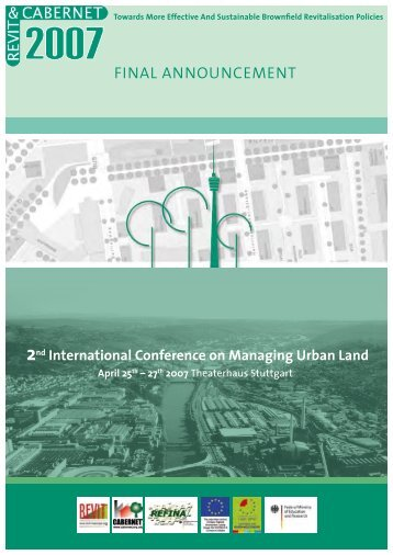 2nd International Conference on Managing Urban Land ... - Refina