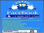 facebook help center number for USA and Canada +1-800-297-1560