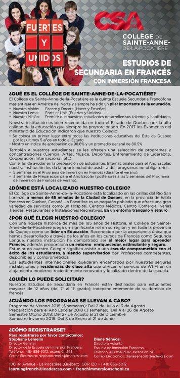 CSA Encartes rouge 2018-2019