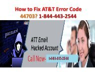 How to Fix AT&T Error Code 44703 (23-06)