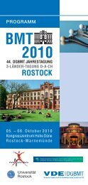 bmt 2010 rostock - Sonderforschungsbereich 599