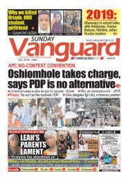 24062018 - APC NO CONTEST CONVENTION: Oshiomhole takes charge says PDP is no alternative
