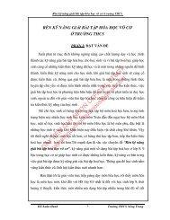 RÈN KỸ NĂNG GIẢI BÀI TẬP HÓA HỌC VÔ CƠ Ở TRƯỜNG THCS