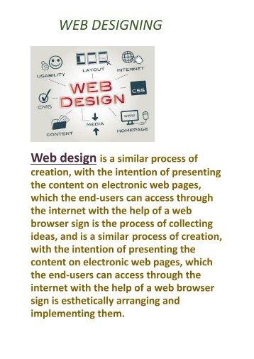 Web designing pdf file