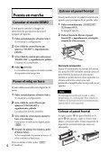 Sony CDX-GT565UV - CDX-GT565UV Mode d'emploi Espagnol - Page 4