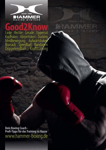 HAMMER Boxing Magazin: Good2Know