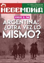 Revista Hegemonía. Año I Nº. 4