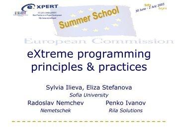 eXtreme programming principles & practices