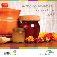 Katalog regijskih izdelkov Zelenega krasa 2013