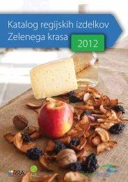 Katalog regijskih izdelkov Zelenega krasa - Regionalna razvojna ...