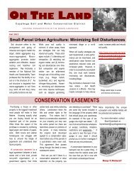 ON THE LAND - Cuyahoga Soil and Water Conservation District