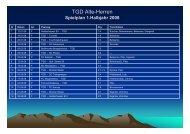 Spielplan 1.Halbjahr 2008 - TGD Essen-West 1910 eV