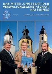 das mitteilungsblatt der verwaltungsgemeinschaft ... - VG Nassenfels