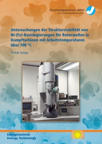 Untersuchungen der Strukturstabilität von Ni-(Fe) - JUWEL ...
