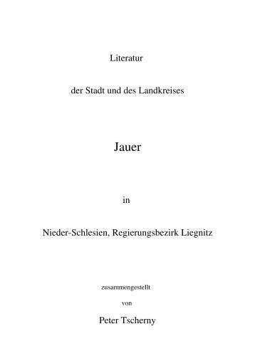 Literatur zum Kreis Jauer.odt
