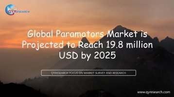 Global Paramotors Market is Projected to Reach 19.8 million USD by 2025