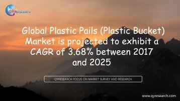 Global Plastic Pails (Plastic Bucket) Market is projected to exhibit a CAGR of 3.68