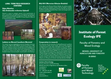 Institute of Forest Ecology IFE - page of the information system